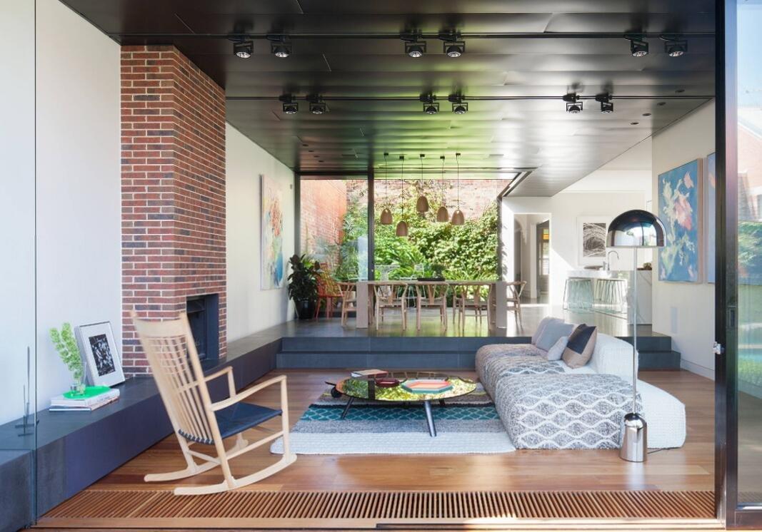 別墅錯層客廳吊頂效果圖片
