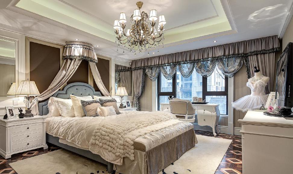 別墅室內窗簾設計圖片