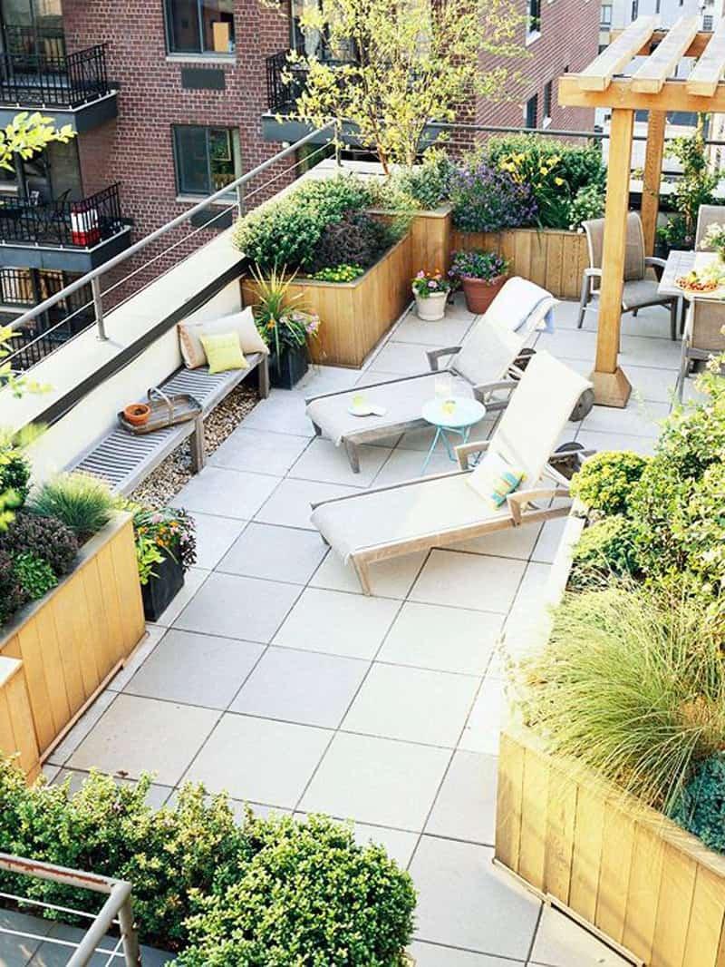別墅屋頂花園地磚裝修平面圖