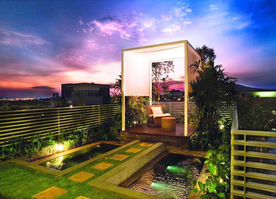 別墅屋頂花園涼亭設計平面圖