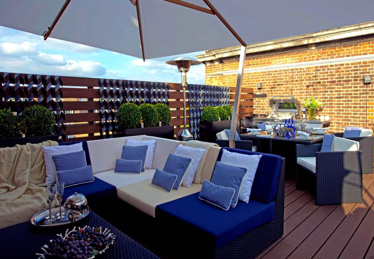 別墅屋頂花園盆栽擺放平面圖