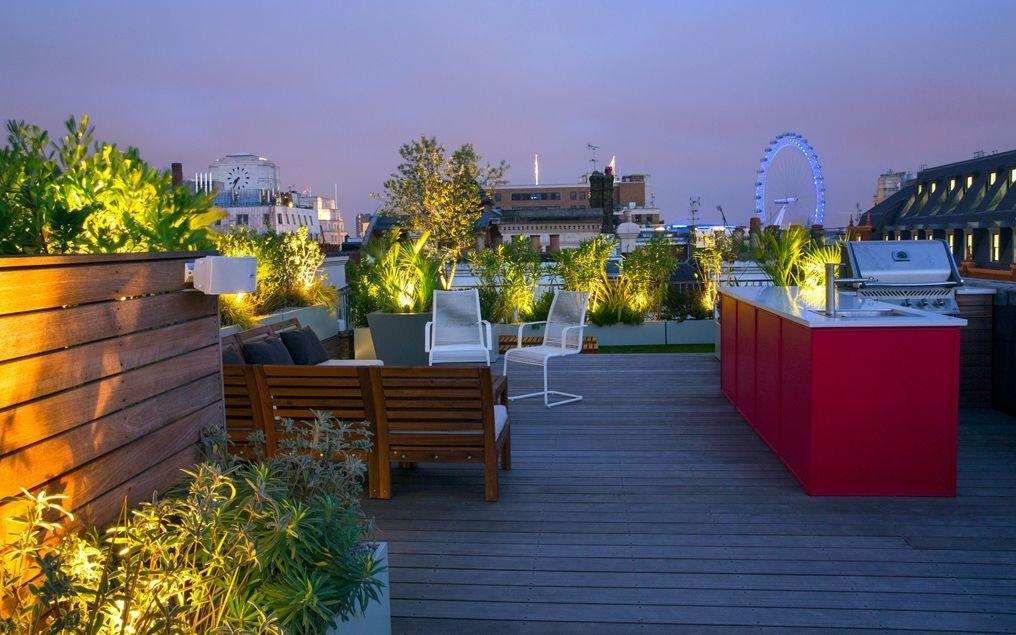 別墅屋頂花園休閑區布置平面圖