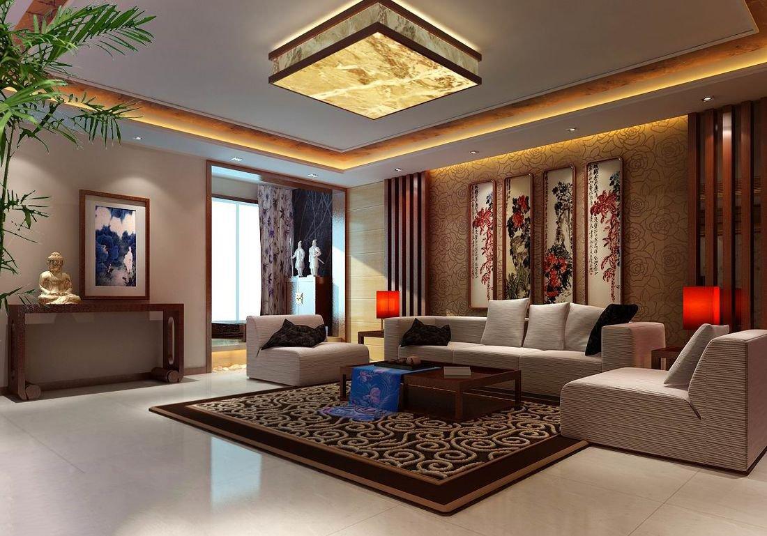 別墅中式裝飾效果客廳吊燈