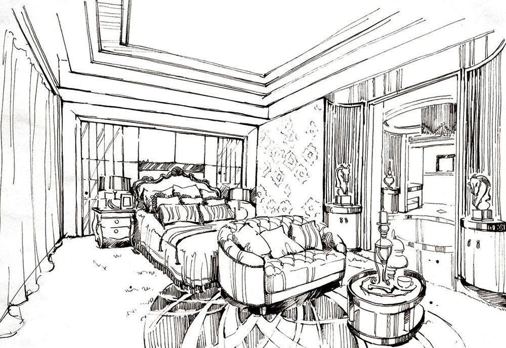 別墅主臥室裝修設計圖紙效果圖片