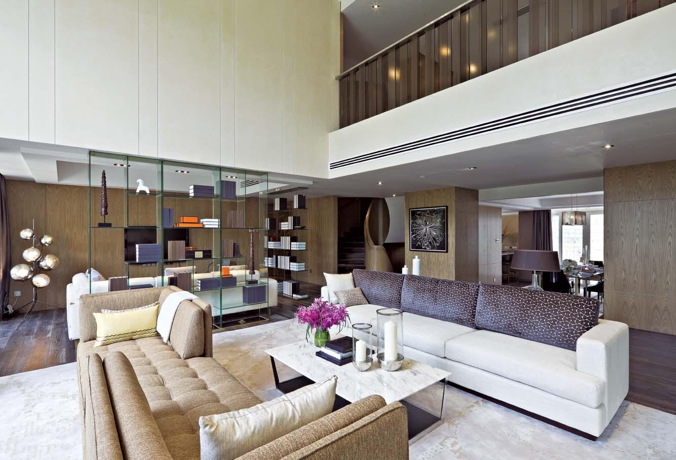 大戶型室內客廳家具擺放裝修圖片