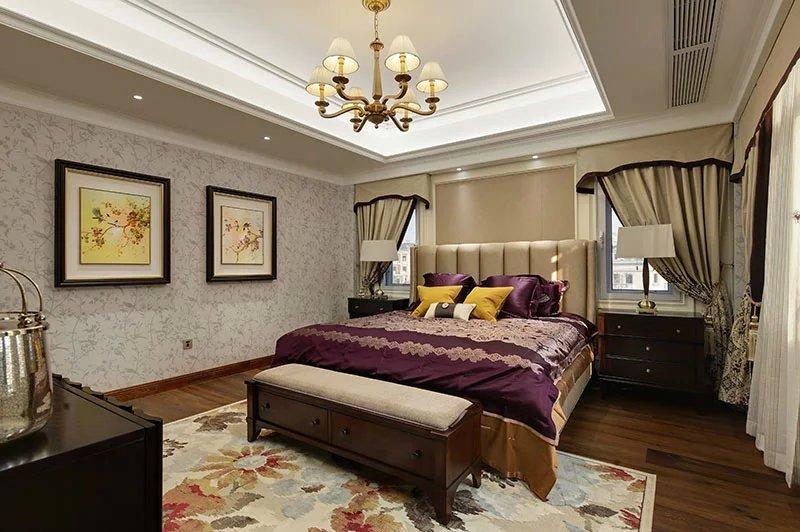 大戶型臥室室內床頭柜裝修圖片