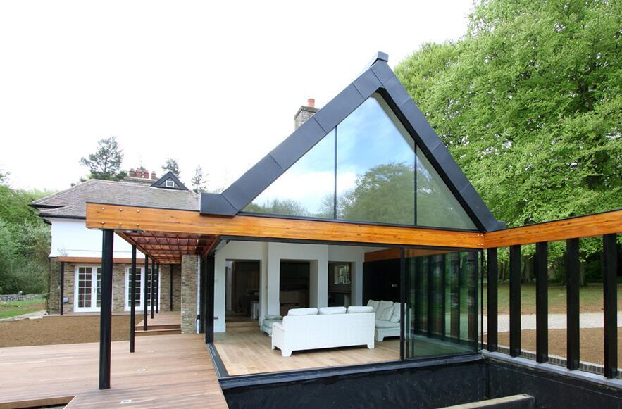 獨立小別墅玻璃門裝修設計圖片
