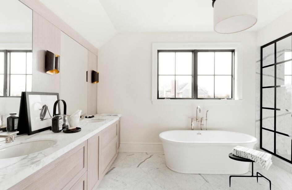 獨立小別墅簡約浴室柜圖片