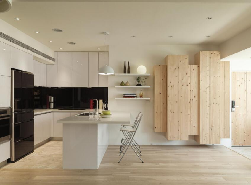 獨立小別墅開放式廚房吧臺設計圖片