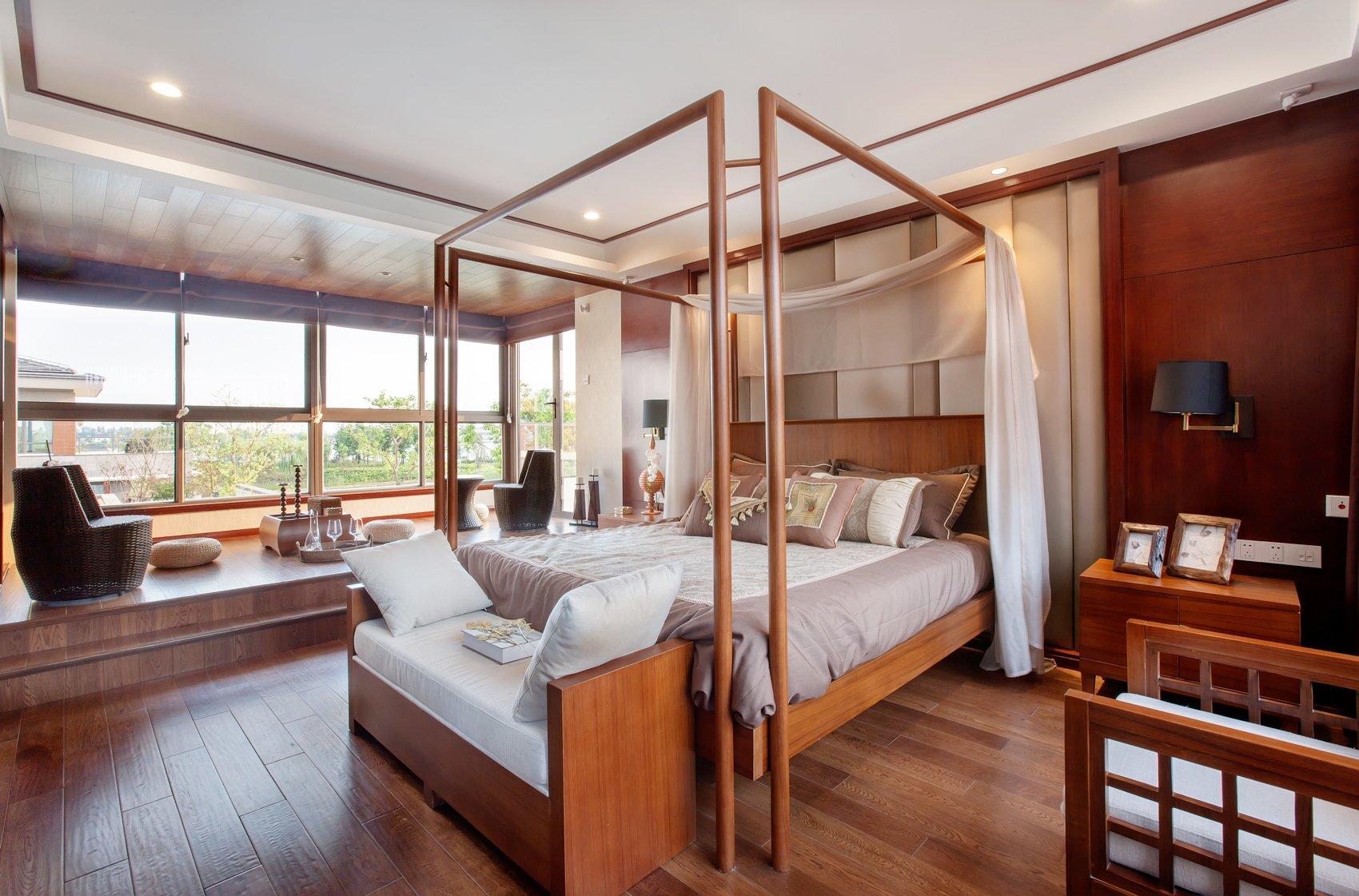 東南亞風格別墅臥室家具裝修效果圖