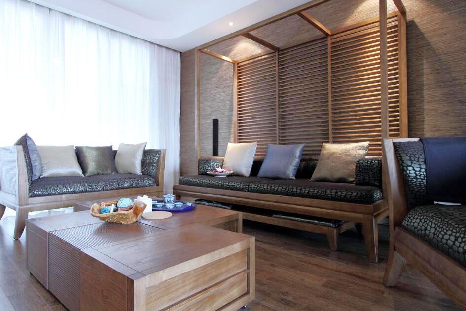 東南亞客廳家具實木茶幾設計圖片
