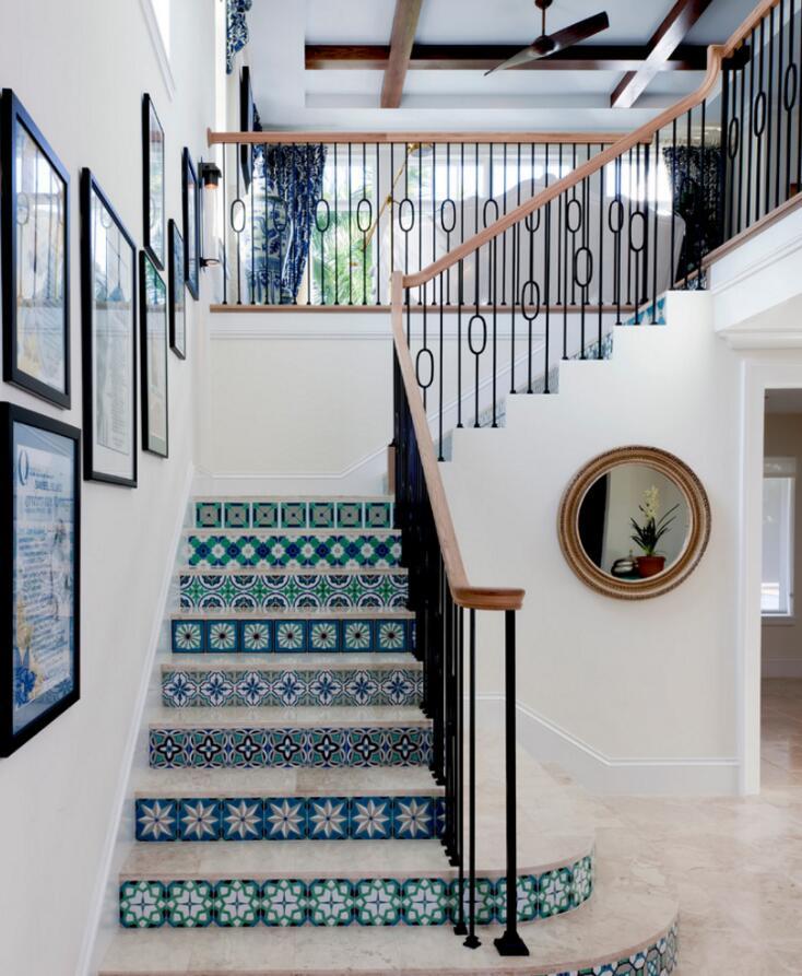東南亞小別墅室內樓梯裝修效果圖2019