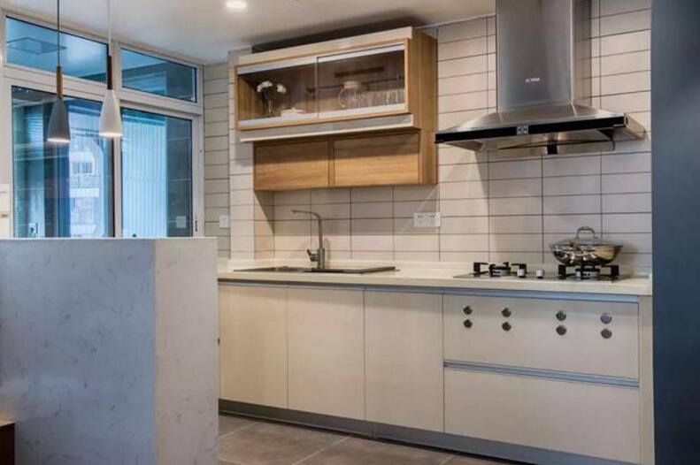 單身公寓樣板房開放式廚房裝修效果圖