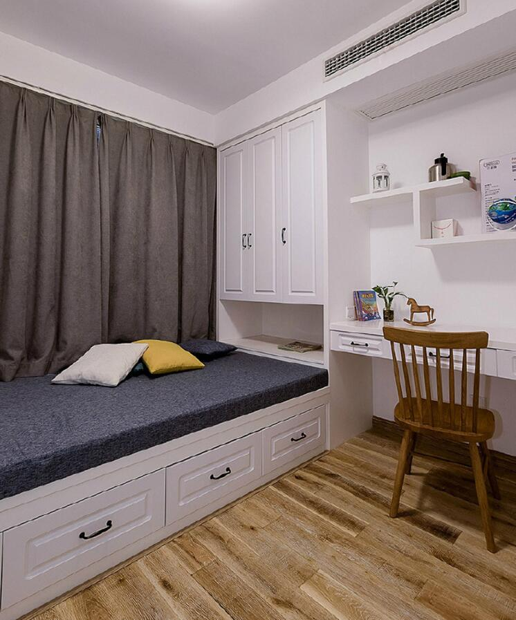單身公寓樣板房書房榻榻米床裝修效果圖