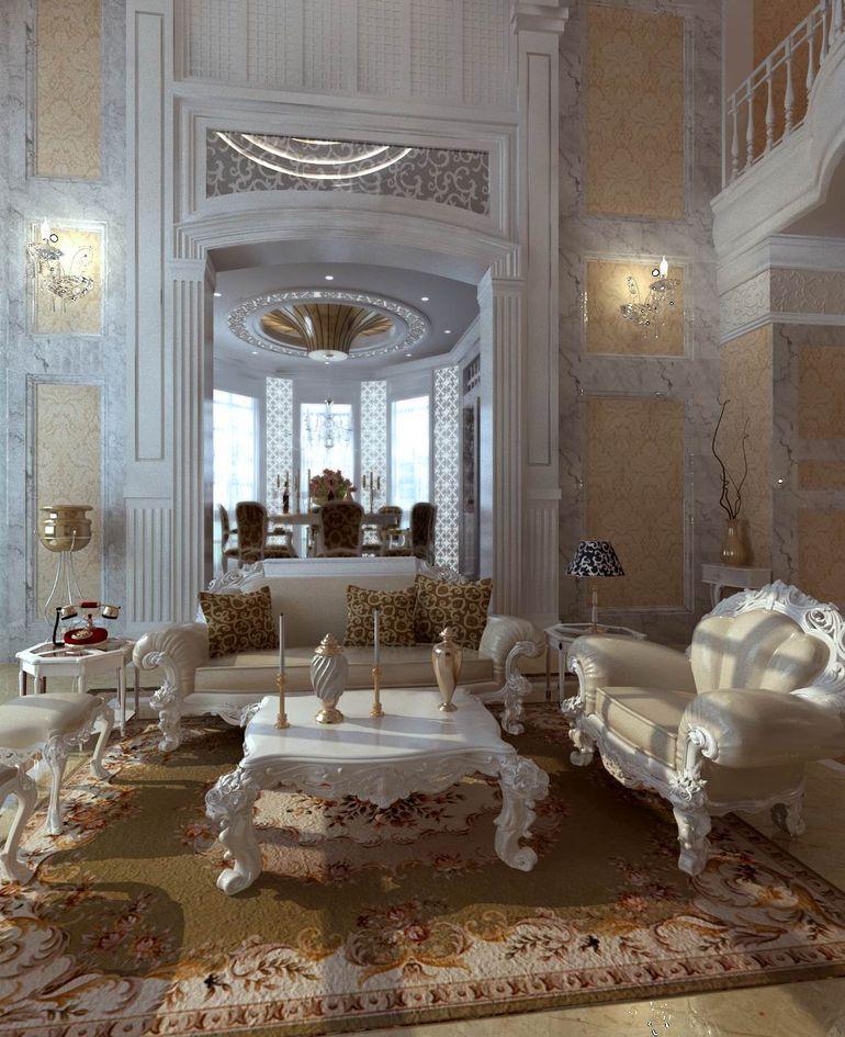 二層別墅現代歐式客廳裝修效果圖片