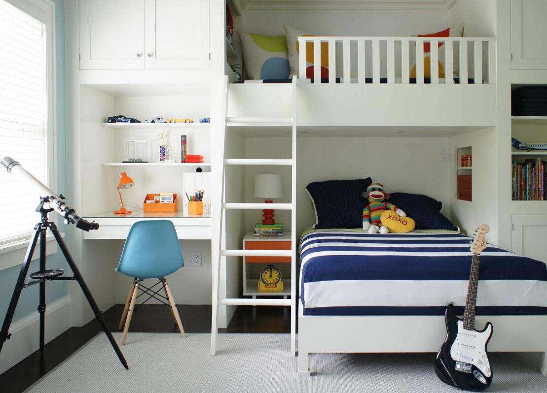 兒童房高低床裝潢布置圖片賞析