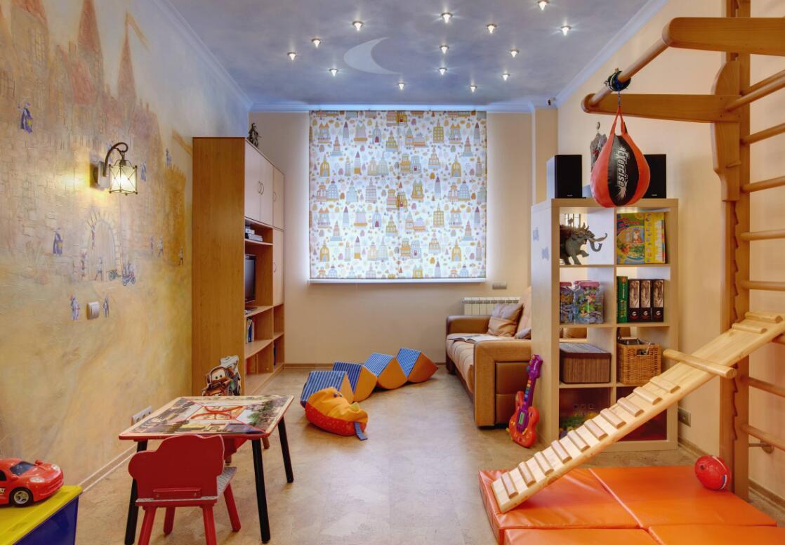 兒童房星空吊頂裝飾布置圖片