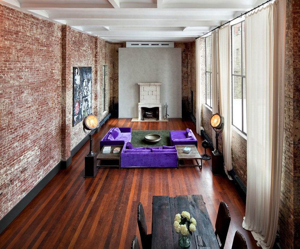 復式別墅美式鄉村風格家居客廳墻面裝修
