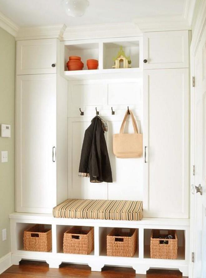 房屋玄關白色柜子設計效果圖片一覽2019