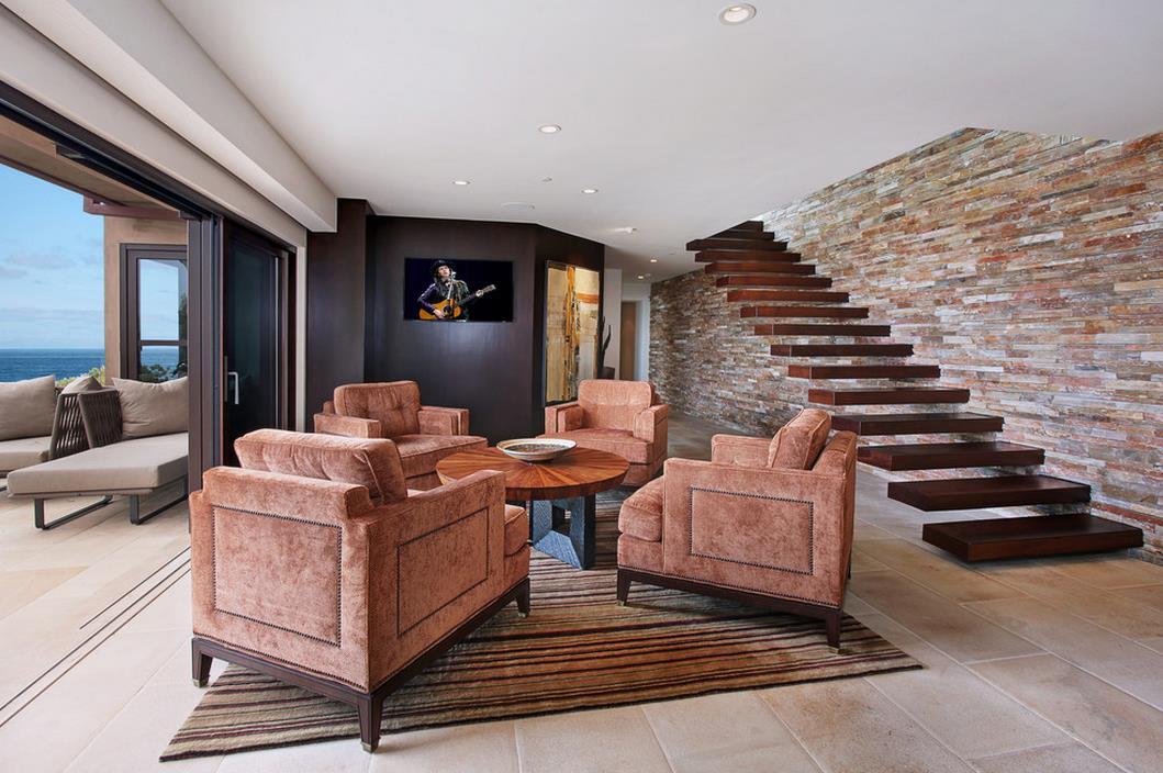 房子客廳樓梯設計裝修圖片大全