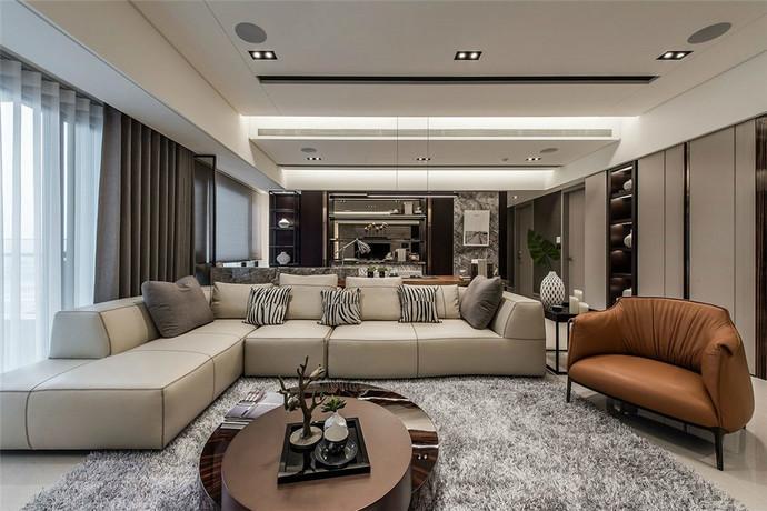 貴安新天地180平米平層現代風格客廳裝修效果圖