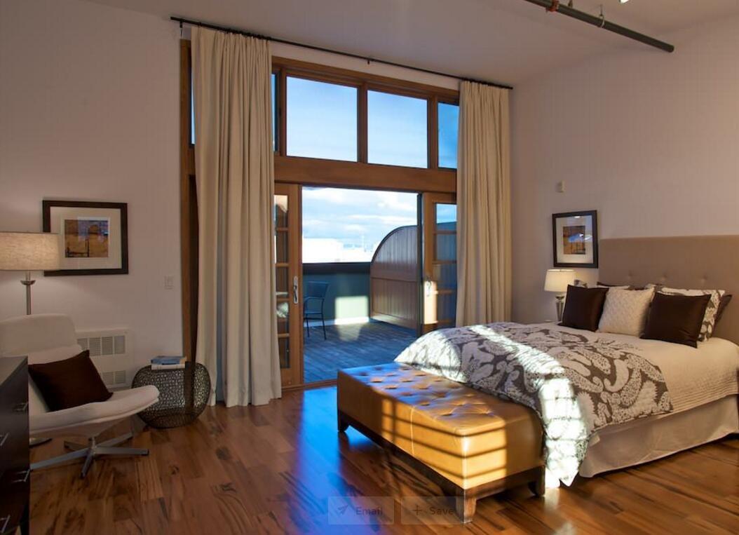 高層房屋臥室露臺設計圖片