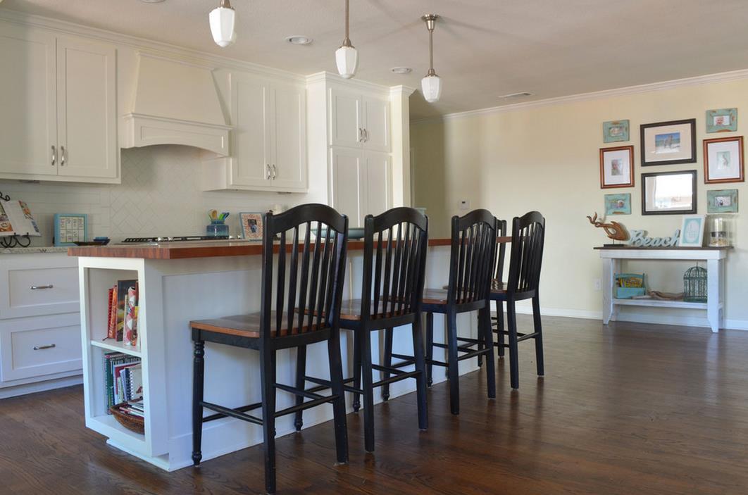 國外別墅室內廚房吧臺設計效果圖