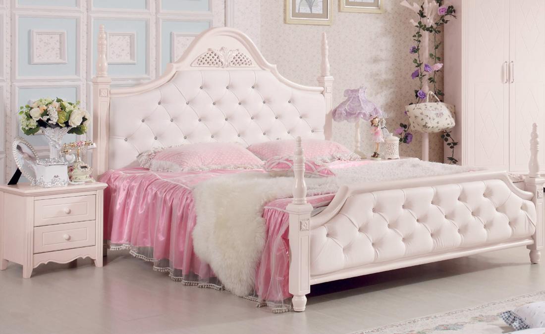 韓式別墅女生臥室雙人床裝修效果圖片
