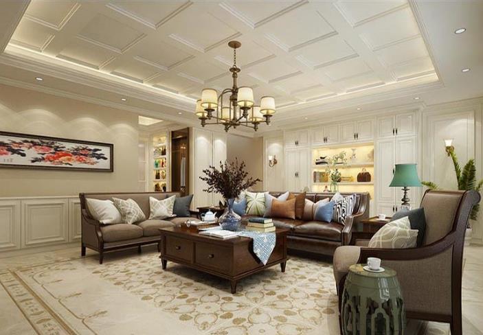 海怡尊邸別墅385平歐式風格裝修案例