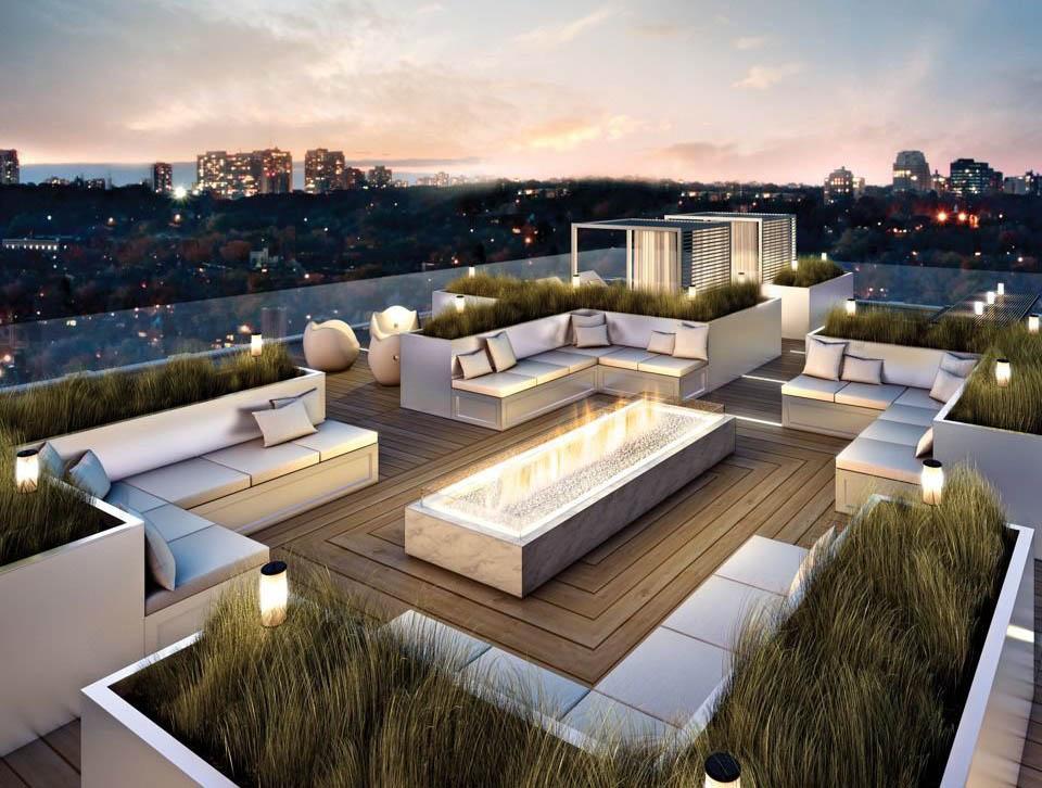 極簡風格別墅屋頂花園平面圖