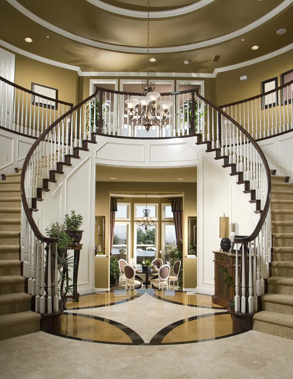 簡歐別墅風格閣樓復式樓梯設計裝修效果圖片