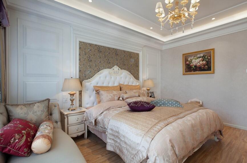 簡歐風格家居主臥室整體裝修圖片