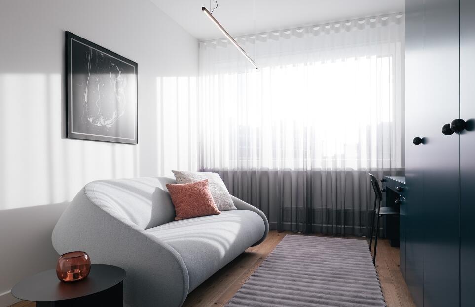 簡歐家居客廳白色沙發造型裝修圖片