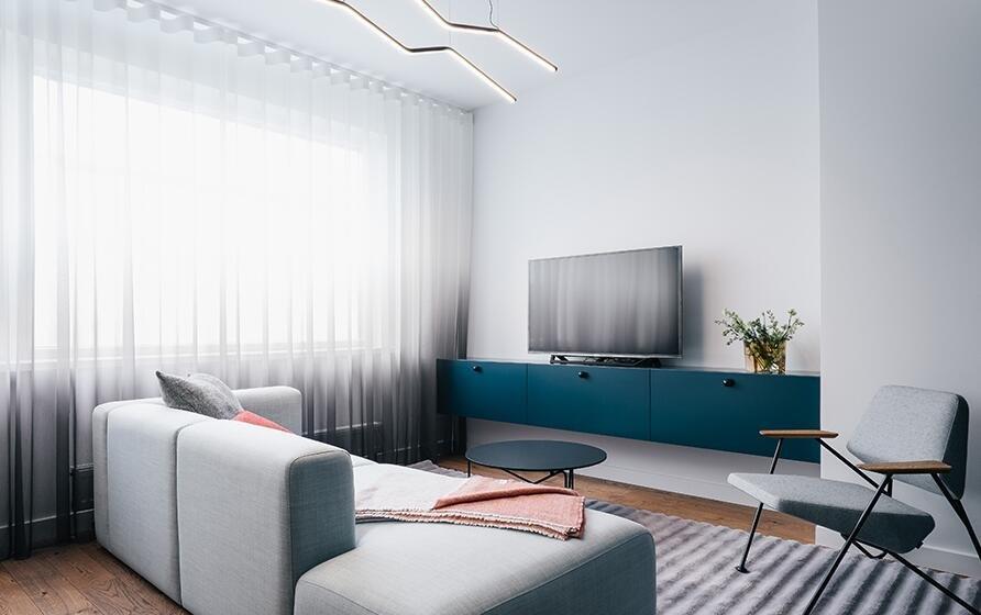 簡歐家居小戶型客廳電視柜裝修圖片