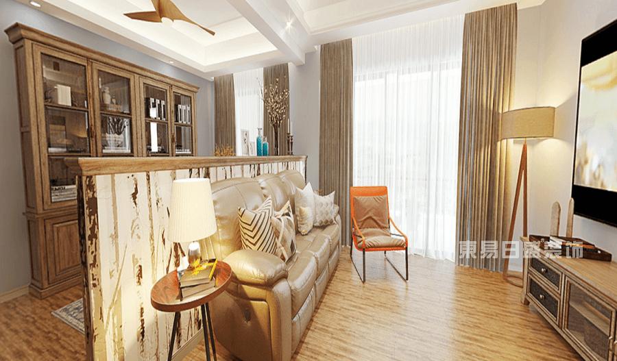江山樾106平米現代風格客廳裝修效果圖