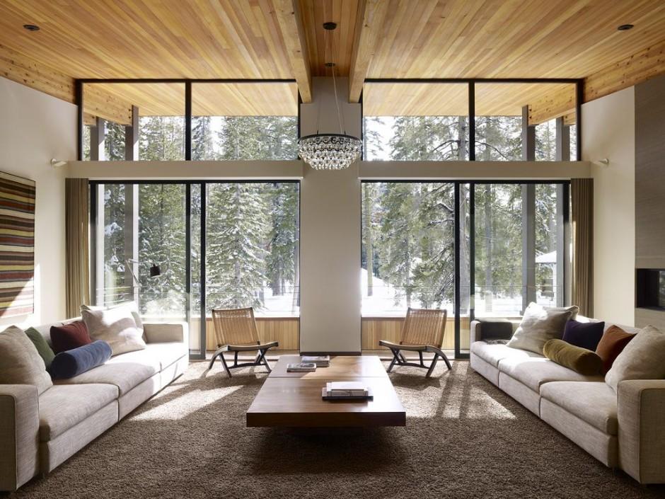 家庭別墅現代風格客廳燈具設計圖大全