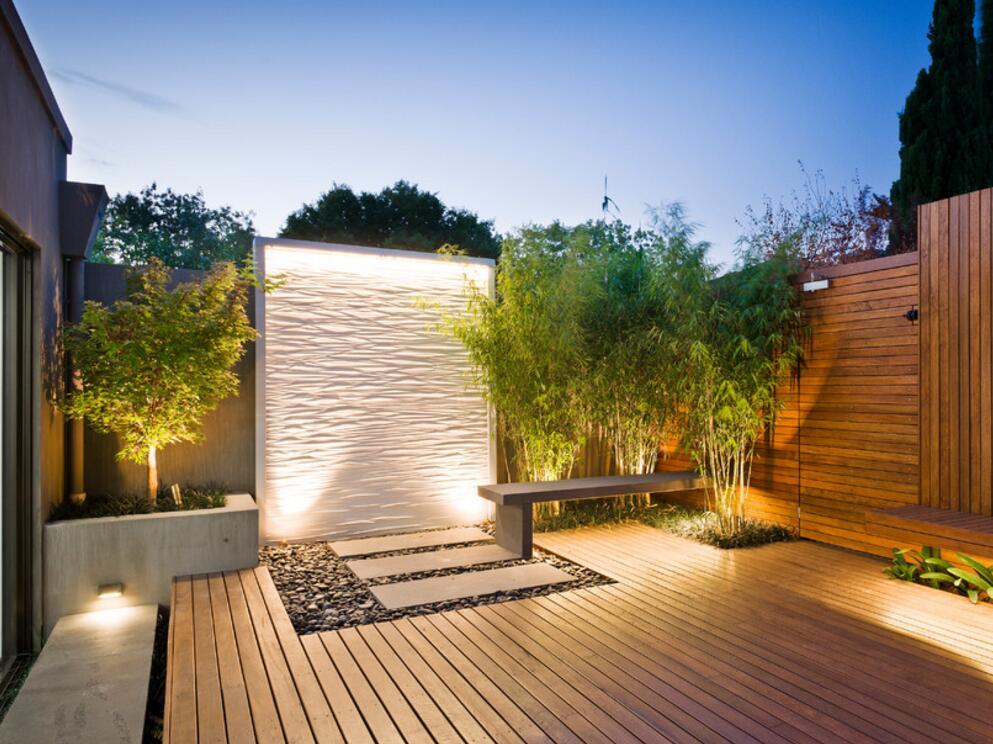 家庭庭院地面木質裝修設計效果圖