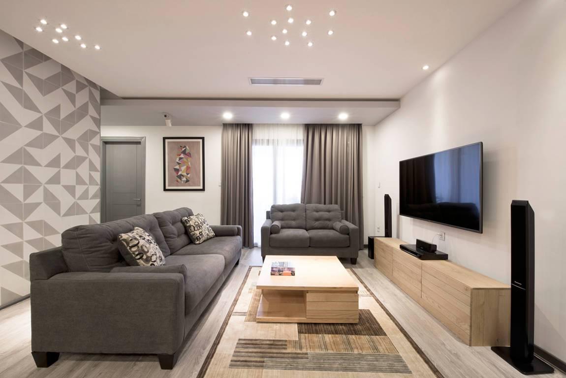 簡約風格家庭客廳原木電視柜圖片