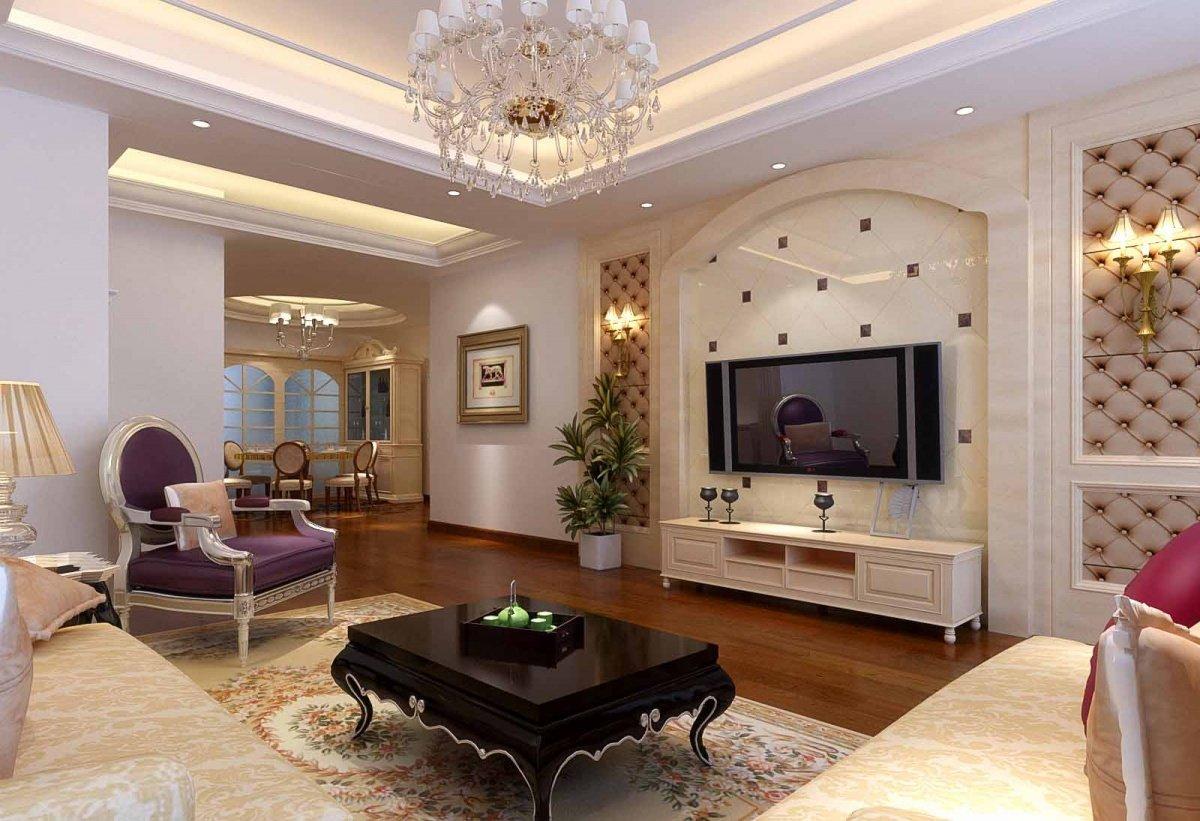 簡約客廳電影視背景墻瓷磚效果圖大全
