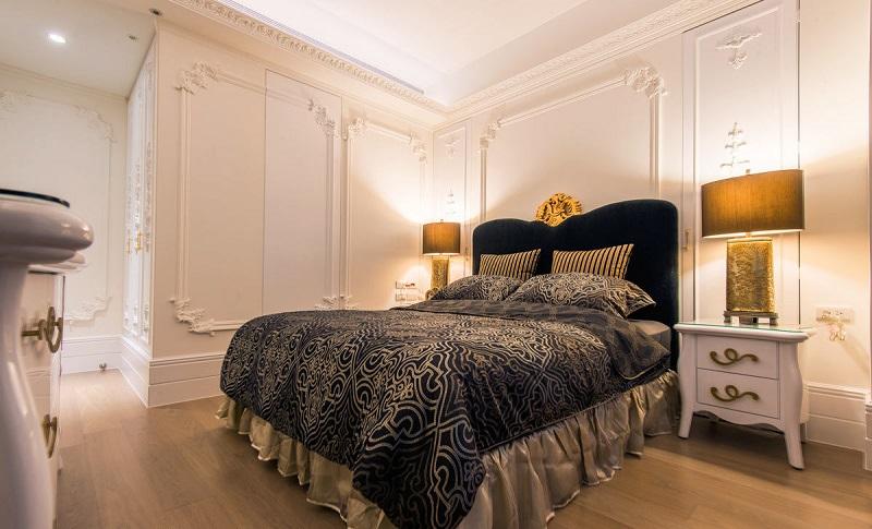 簡約歐式風格108平三居臥室裝修實景圖