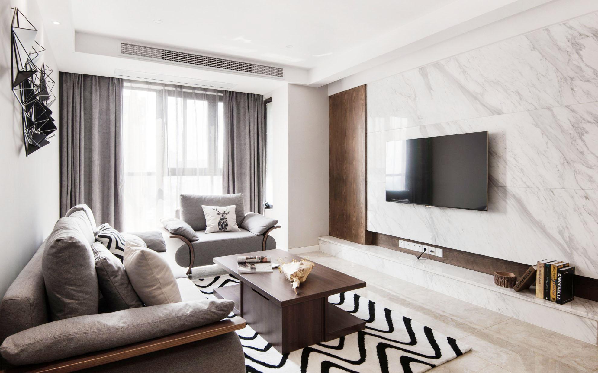 家裝現代風格最流行影視墻效果圖
