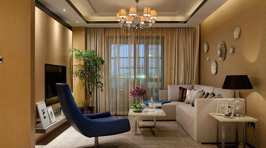 九洲·躍進路1958兩居室80平米現代客廳裝修效果圖
