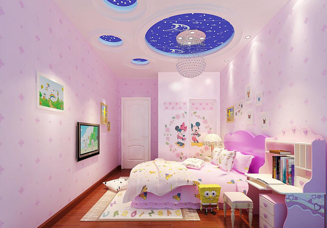 兩層別墅兒童房顏色裝修效果圖片