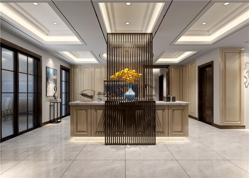 龍湖源著現代簡約150平四居室玄關裝修案例
