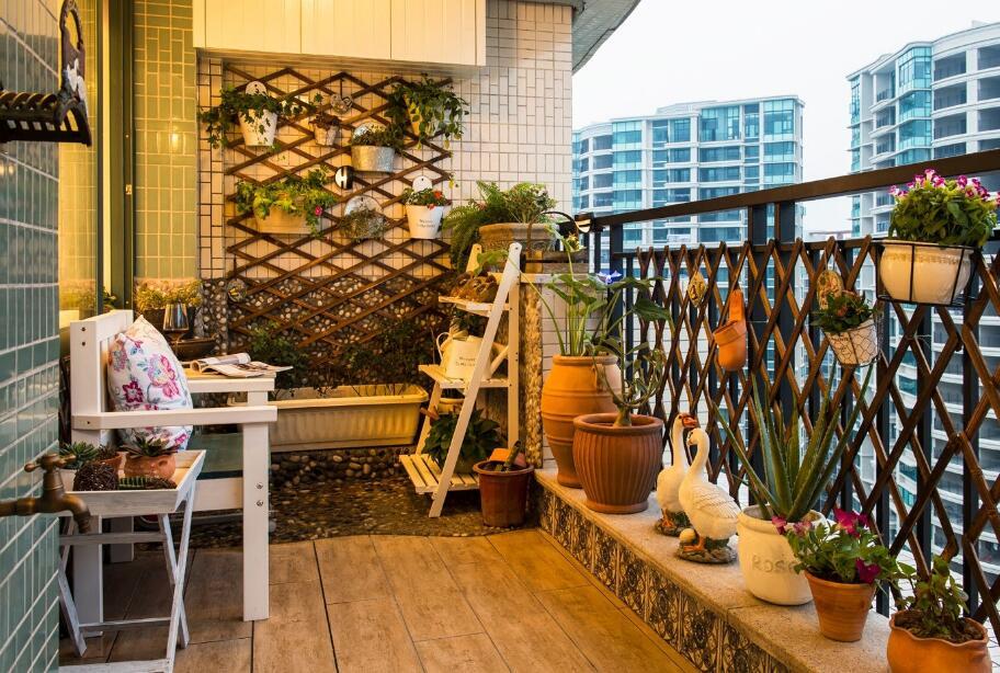 兩居室小陽臺花園裝修設計圖片