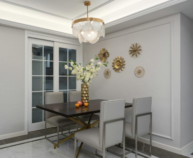 兩居樣板房簡歐風格餐廳裝修效果圖