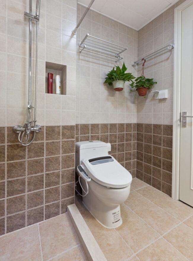 兩居樣板房衛生間馬桶裝修圖片大全
