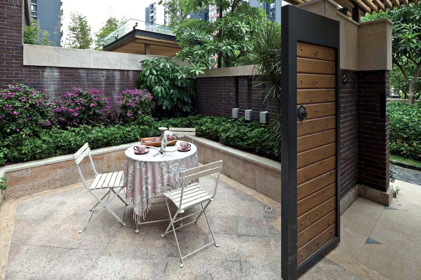 聯排別墅庭院圍墻設計效果圖片