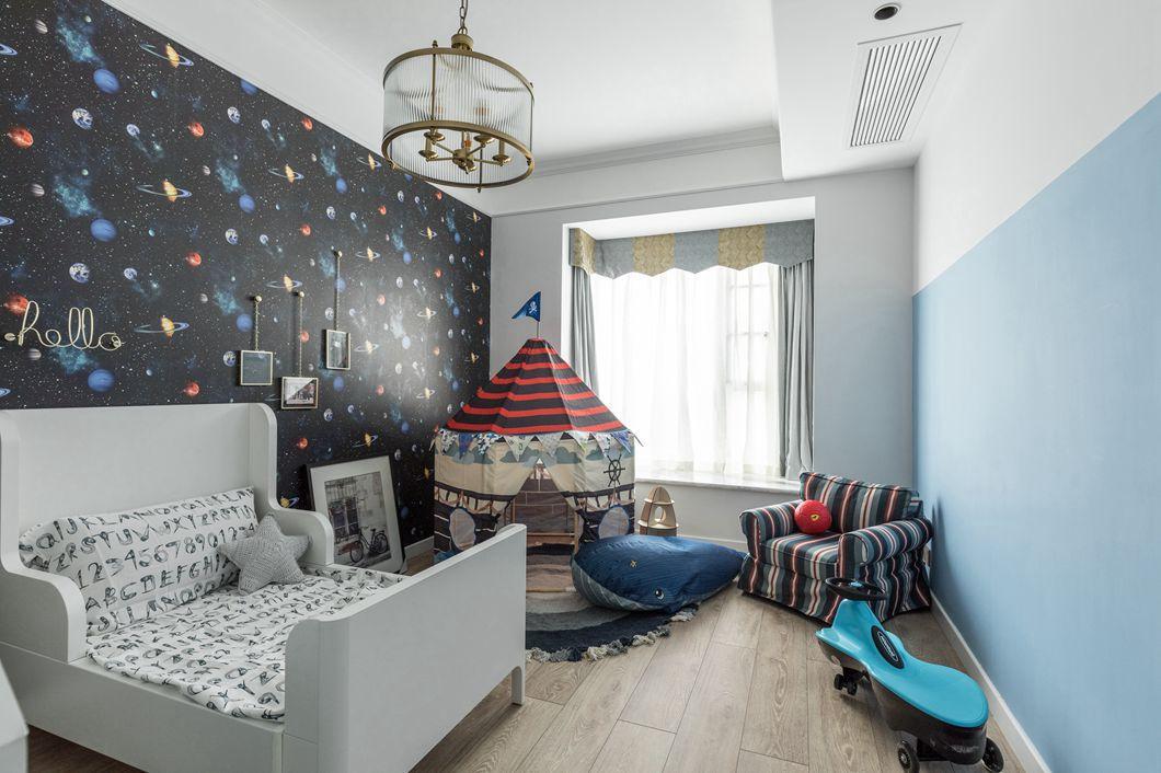美式風格房子兒童臥室裝修布置效果圖賞析