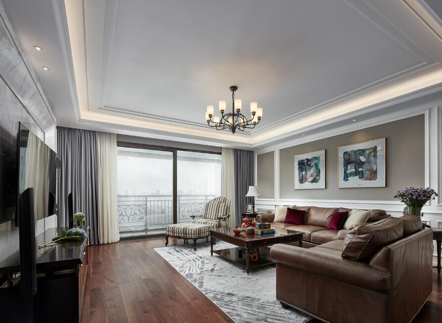 美式風格房子客廳家具沙發裝修設計欣賞